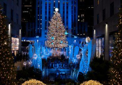Encienden árbol de Navidad en Rockefeller Center con medidas sanitarias por COVID-19